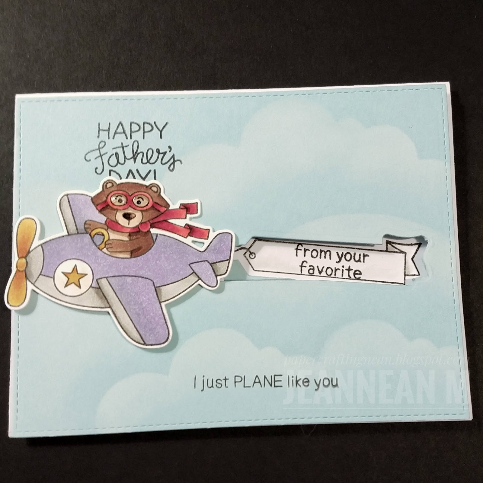 Happy Father's Day Card by May Guest Designer Jeannean Marshall | Winston Takes Flight Stamp Set by Newton's Nook Designs #newtonsnook #handmade