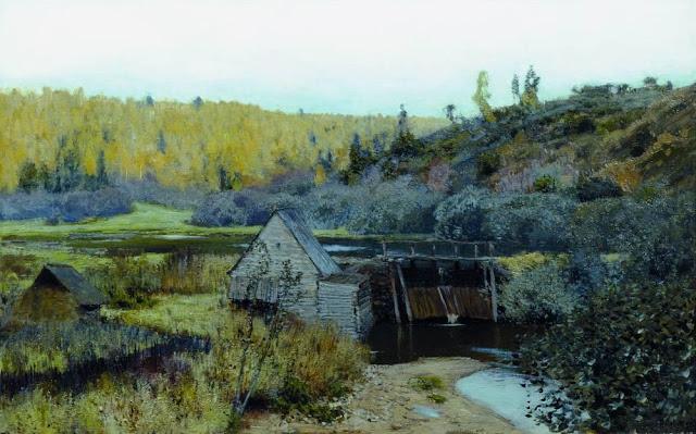 Исаак Ильич Левитан - Осень. Мельница. Плёс. 1888
