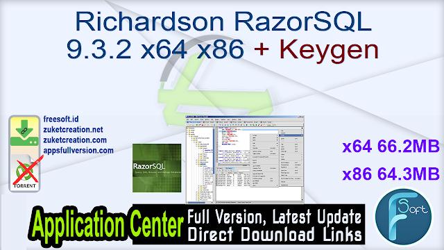 Richardson RazorSQL 9.3.2 x64 x86 + Keygen