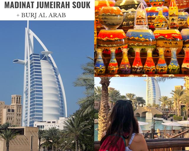 Burj al arab seen from madinat jumeirah souk