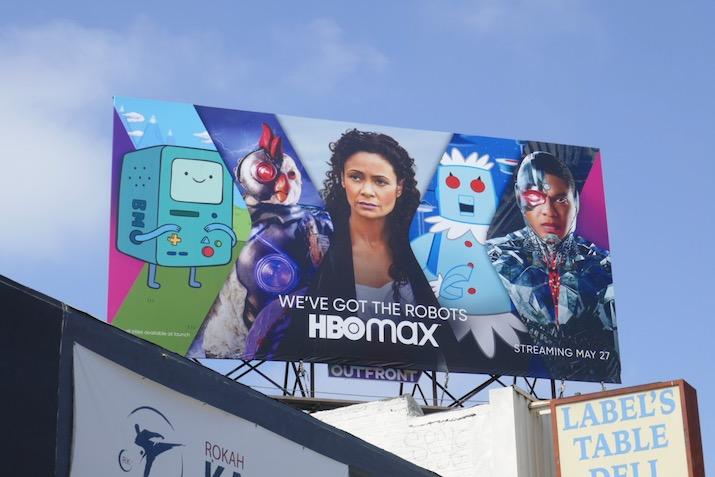 HBO Max robots billboard