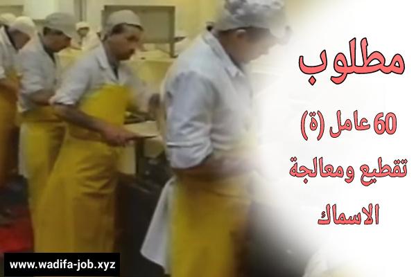 فرص عمل جديدة | مطلوب عمال وعاملات تقطيع ومعالجة الأسماك  بشركة الصناعات الغذائية
