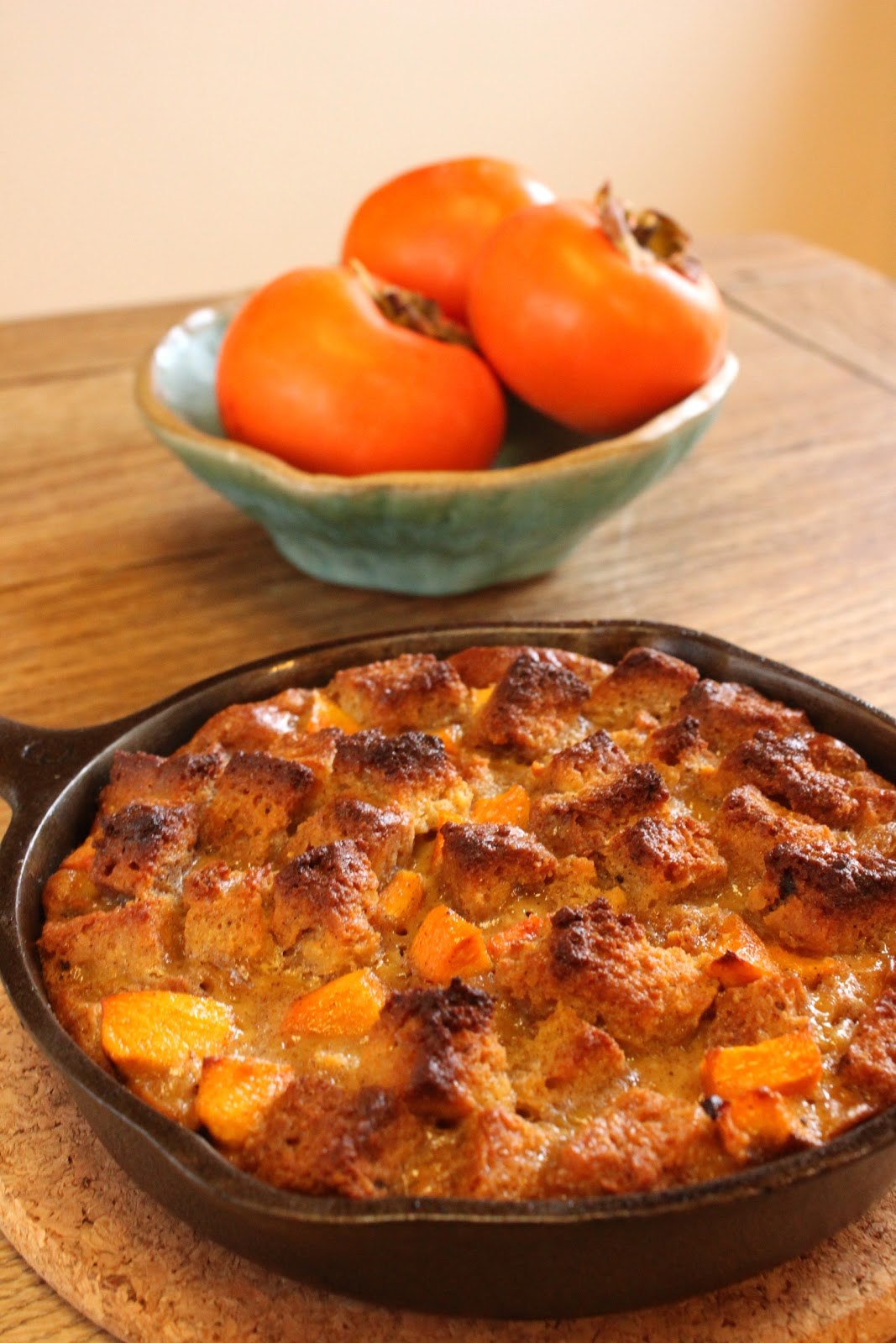 Persimmon Cornbread Pudding