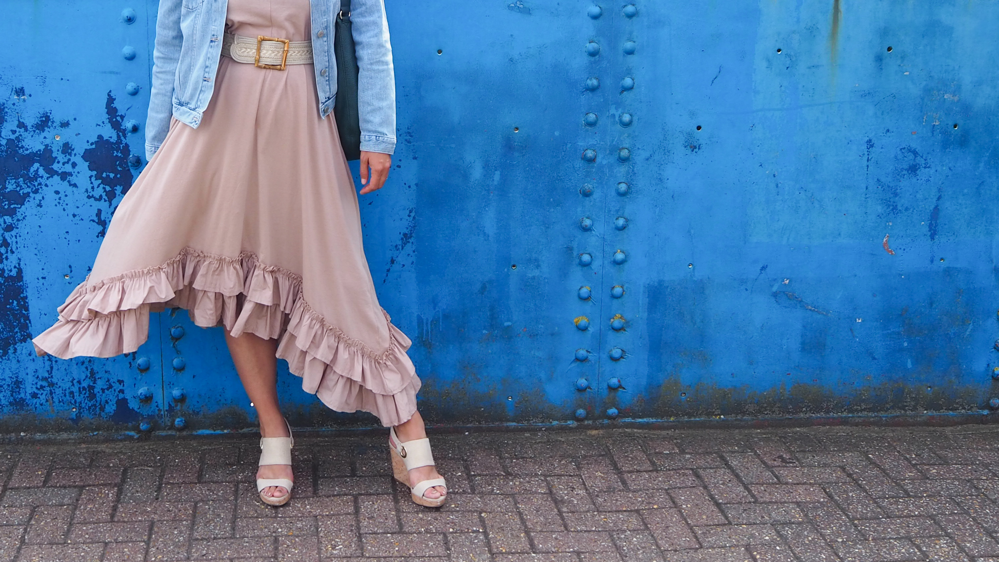 Beige Ruffle dress