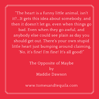 The Opposite of Maybe by Maddie Dawson   Review by Tomes and Tequila Book Blog