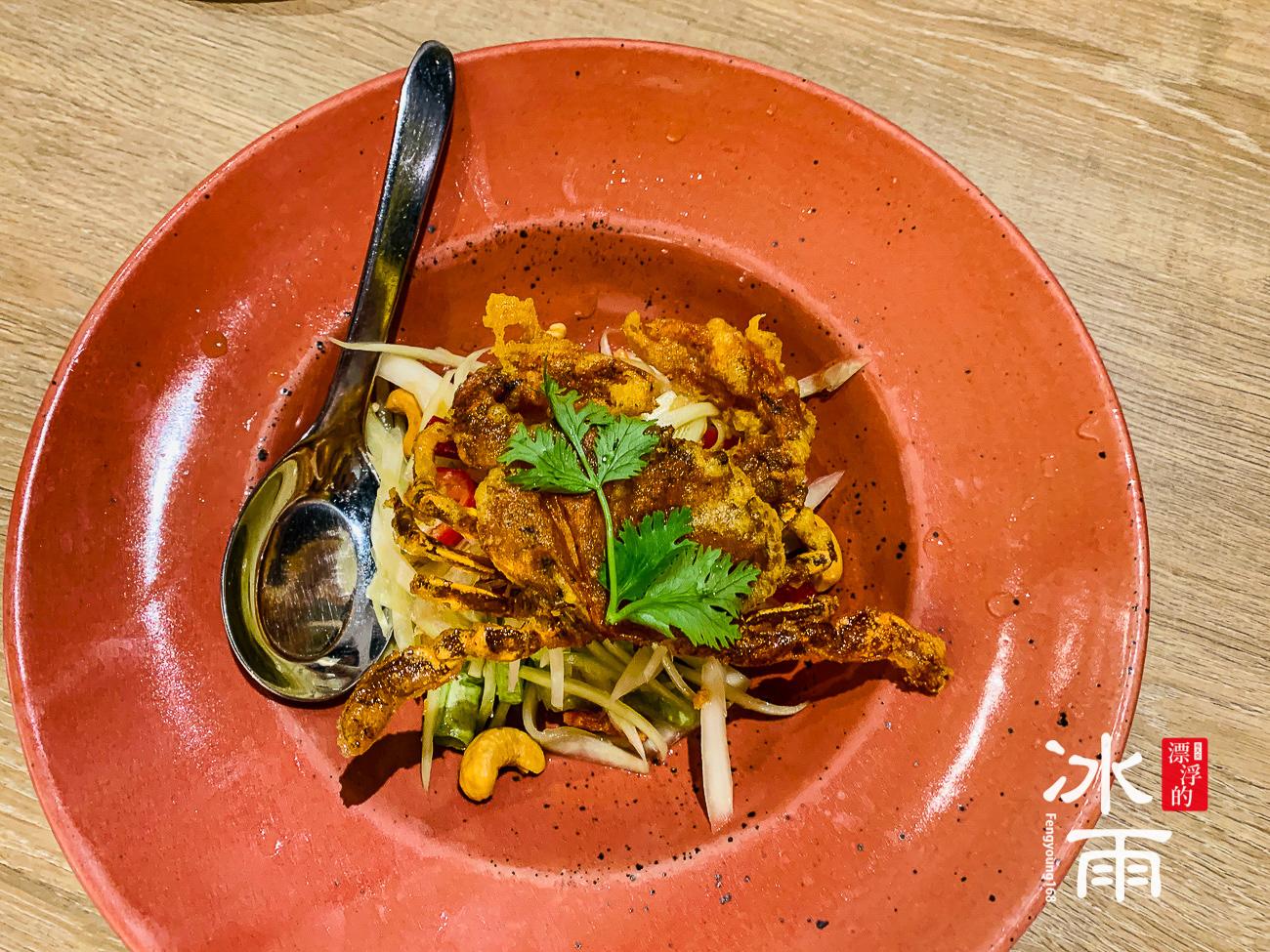 軟殼蟹沙拉,口味真的很獨特,螃蟹也非常軟