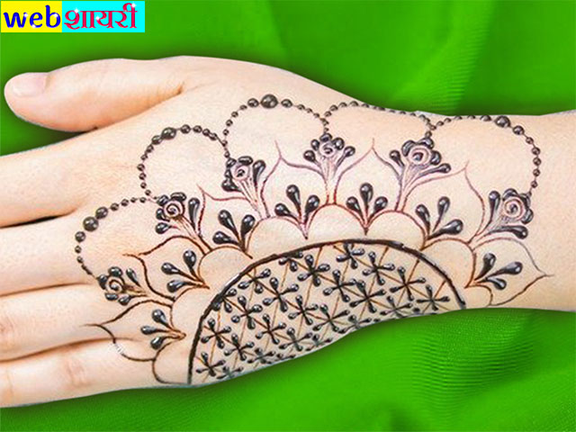 simple mehndi designs for hands step by step