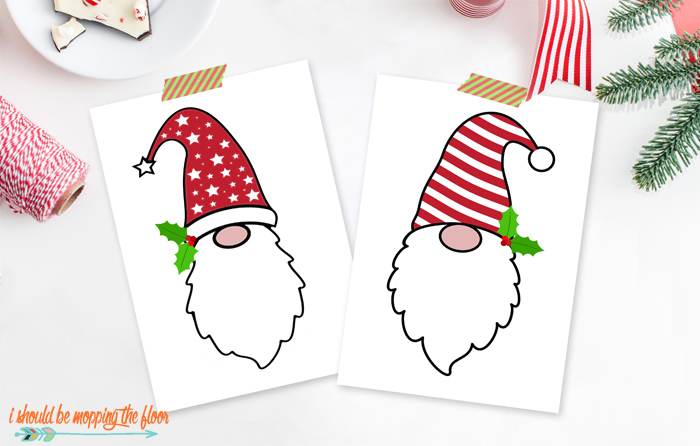 Gnome Printables for Christmas