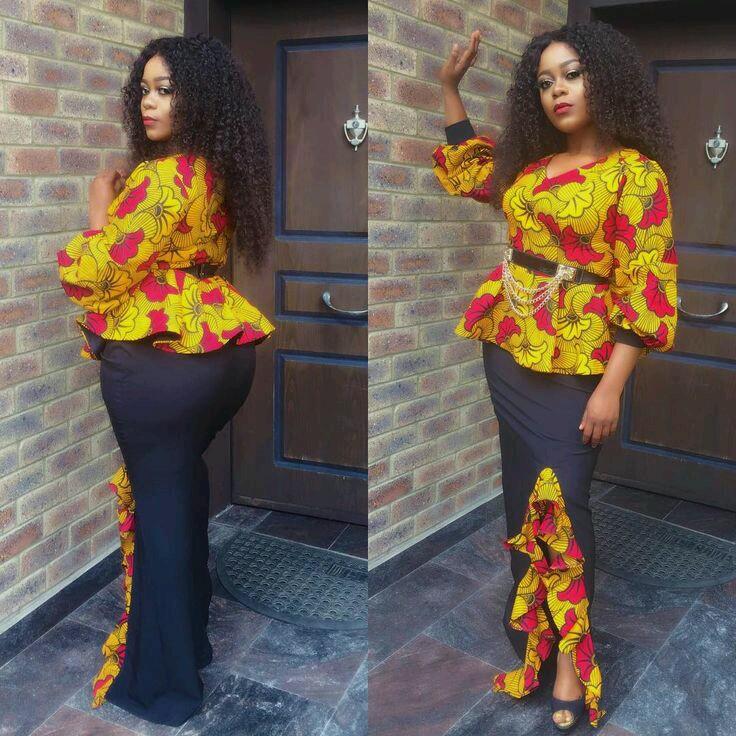 Stylish Ankara Long Skirt And Blouse Styles Download Latest Ankara Styles 2018 Asoebi For