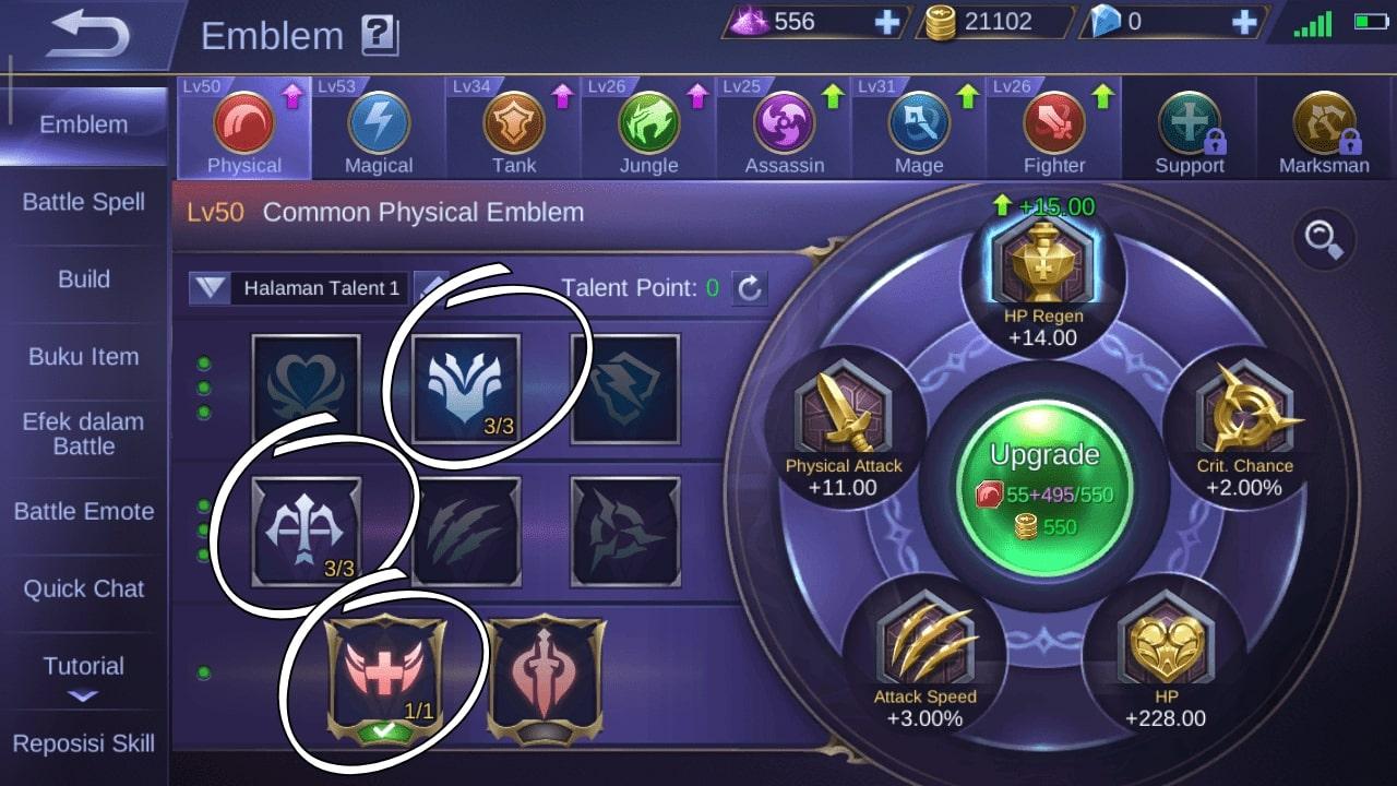 Susunan Emblem yang Cocok Digunakan untuk Masha Hero OP Mobile Legend