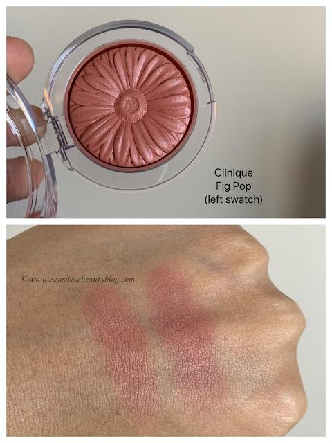 Clinique FIg Pop Blush Swatch on dark skin