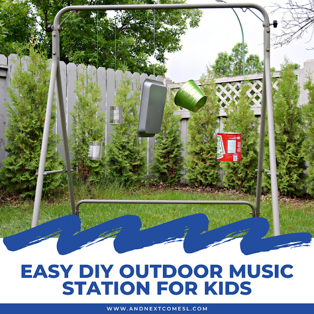 Easy DIY outdoor music station