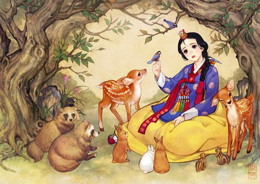 Famous Western Fairytales Get An Eastern Makeover By Korean Artist