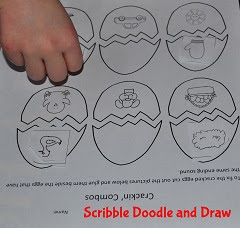 Matching ending sounds on a kindergarten Easter worksheet