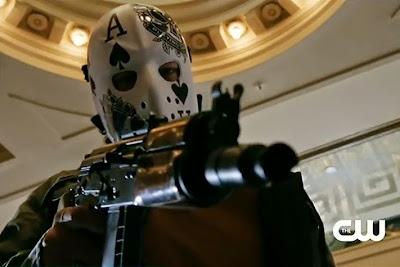 Arrow Legacies Season 1 Episode 6 screencaps Ace poker mask robbers