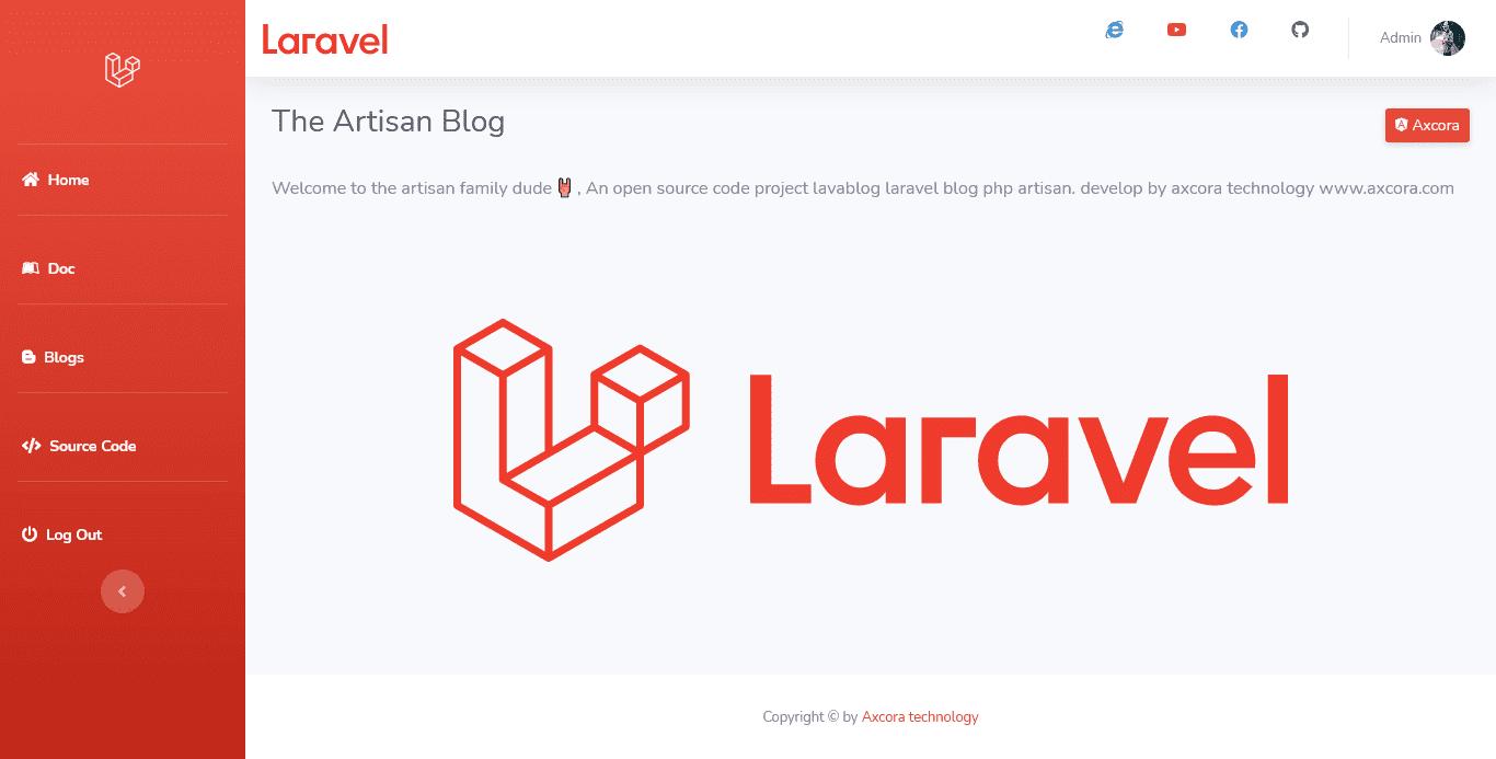 New Laravel Blog CMS free download source code gratis