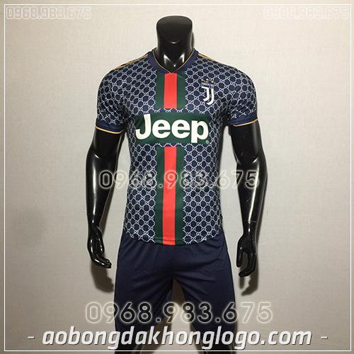 Áo bóng đá câu lạc bộ Juventus GC đen 2020