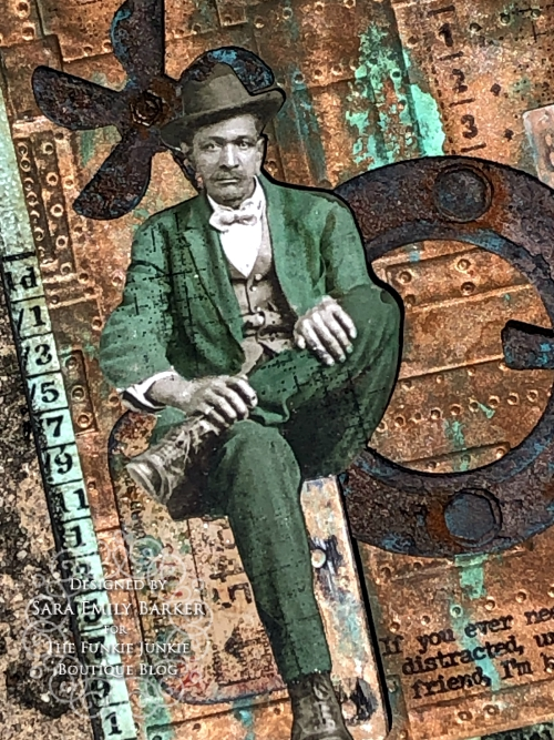 Sara Emily Barker https://sarascloset1.blogspot.com/2020/05/slightly-distracted-and-corroded.html Tim Holtz Masculine Mixed Media Card 2