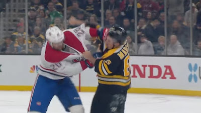 nhl fight bruins canadiens