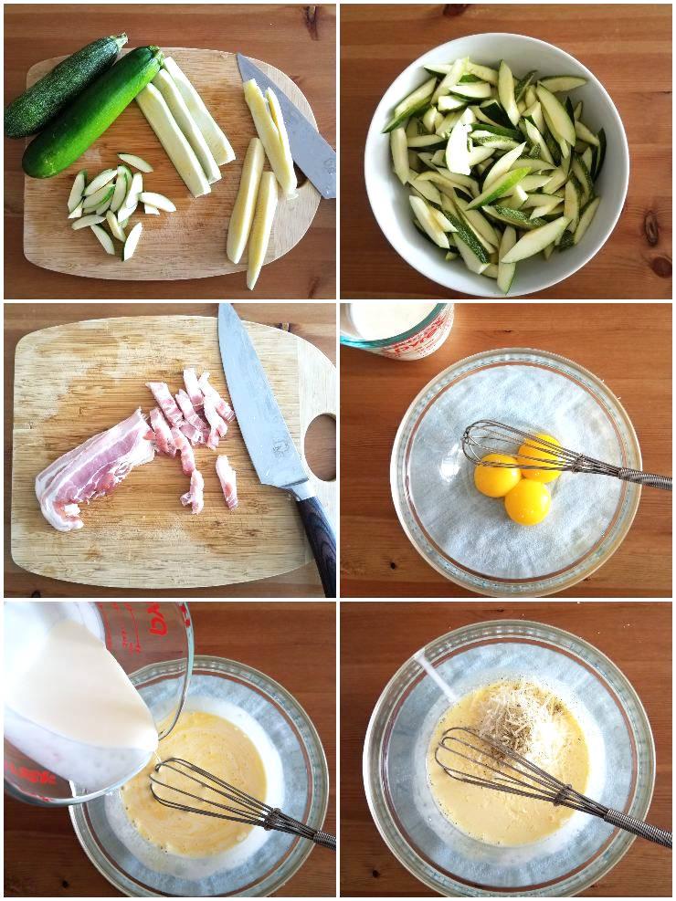 Ingredientes pasta penne con calabacín