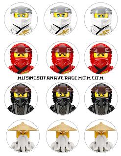 free printable Ninjago cupcake toppers