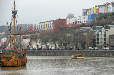 Days out in Bristol England: tall ships on the river