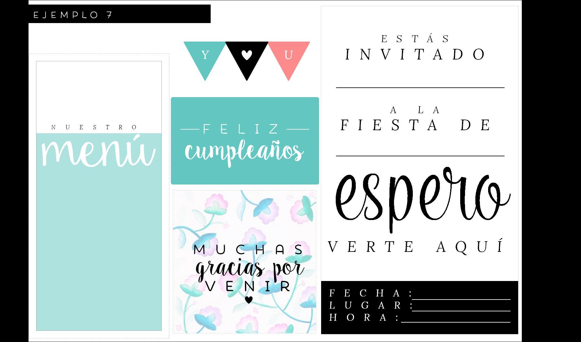 kits de fiesta imprimibles gratis