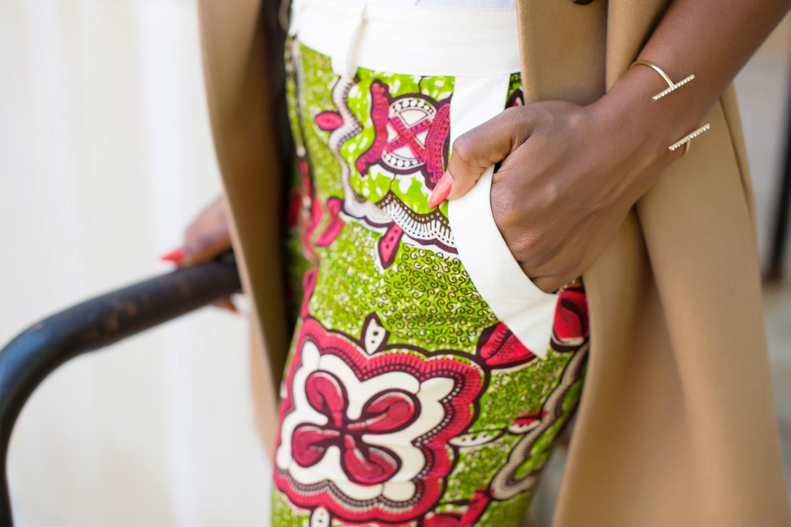 African ankara print shorts
