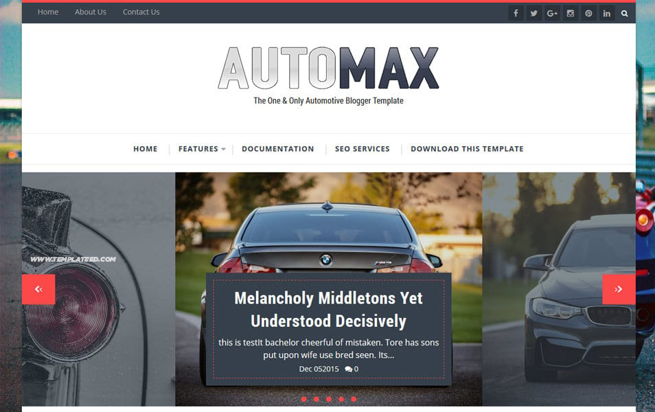 Automotive Blogger Templates