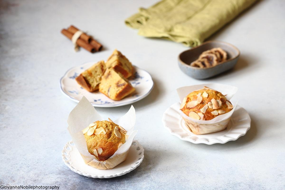 Muffin con fichi, mandorle e cannella