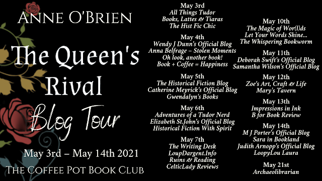 [Blog Tour] 'The Queen's Rival' By Anne O'Brien #HistoricalFiction #Medieval