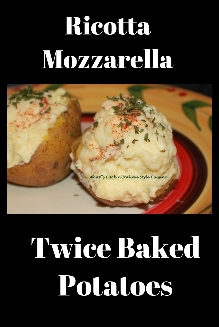 these arre twice baked potatoes with ricotta cheese. How to make an Italian Twice Baked Potato with Ricotta and Spice Recipe