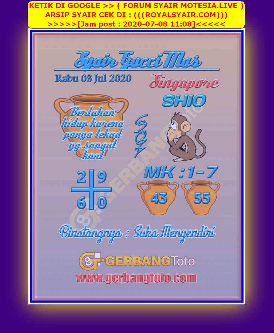 Kode syair Singapore Rabu 8 Juli 2020 28