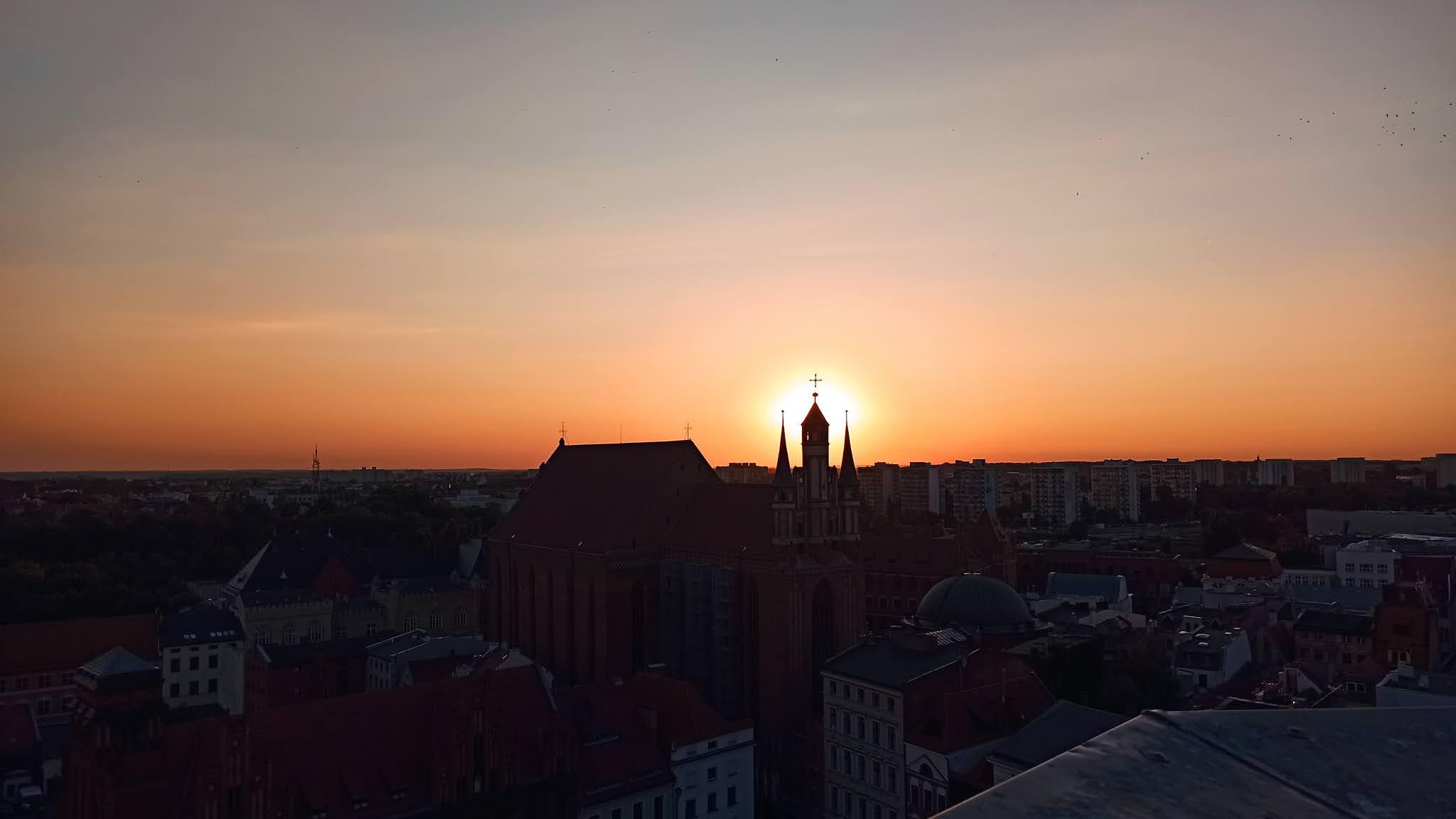 Zachód słońca w Toruniu