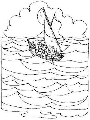 Gesù calma la tempesta sul lago