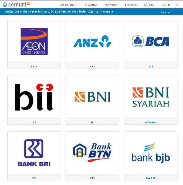 Daftar Bank Penerbit Kartu Kredit