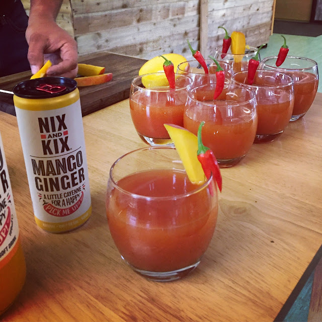 Cocktails with a fiery hit using Edible Ornamentals chillies and NIX&KIX drinks