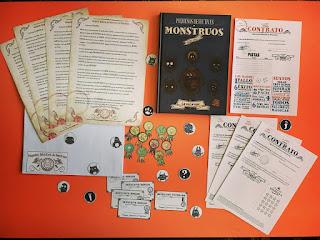 Materiales para jugar pequeños detectives de monstruos el juego de rol