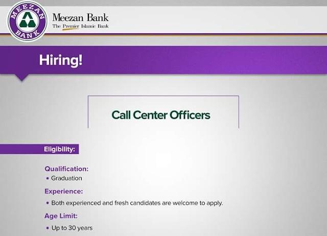 Meezan Bank Call Center Officers jobs - HoriPoint