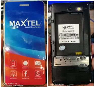 Maxtel MAX 40 flash file Without password