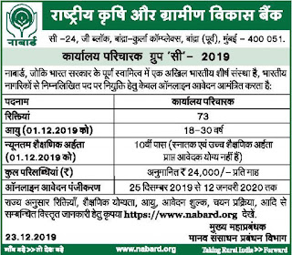 NABARD Bank Office Attendant Vacancies Recruitment Exam 2020 73 Government Bank Jobs Online Exam Pattern-10th pass Jobs