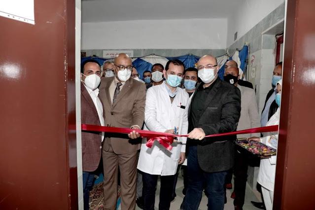 محافظ بني سويف يفتتح  وحدة  العناية المركزة بمستشفى الصدر ضمن المرحلة الأولى من مشروع التطوير