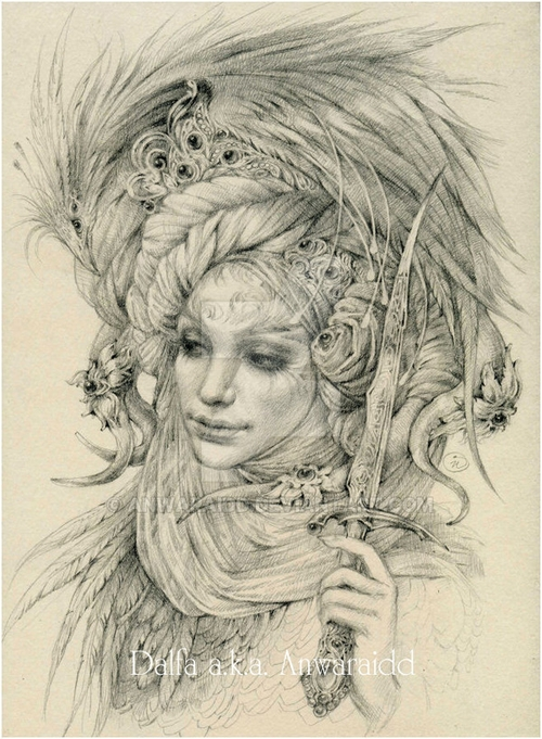 25-Garden-Guardian-Olga-Anwaraidd-Drawings-Fantasy-Portraits-Imaginary-Characters-www-designstack-co