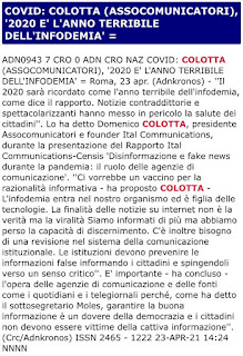 Adnkronos: Rapporto Ital-Censis 2021
