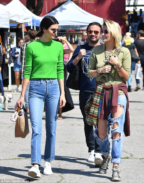Kendall Jenner  Shopping With Paris Jackson In LA