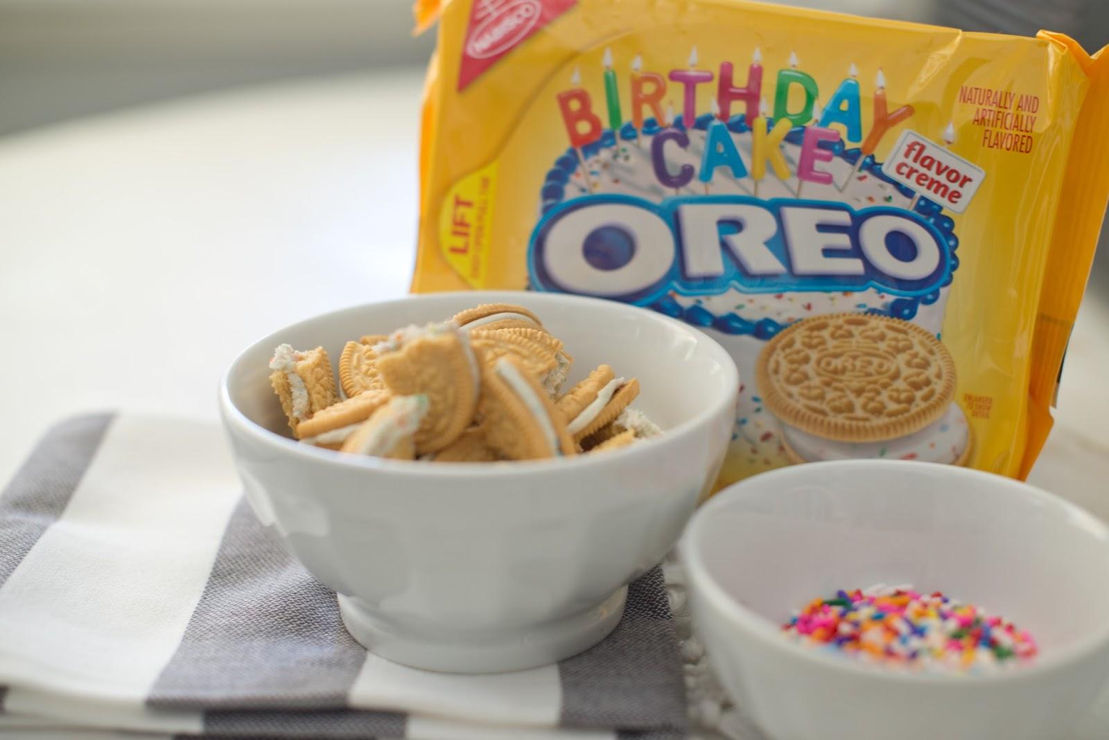 Domestic Fashionista Birthday Cake Oreo Cookie Ice Cream Recipe