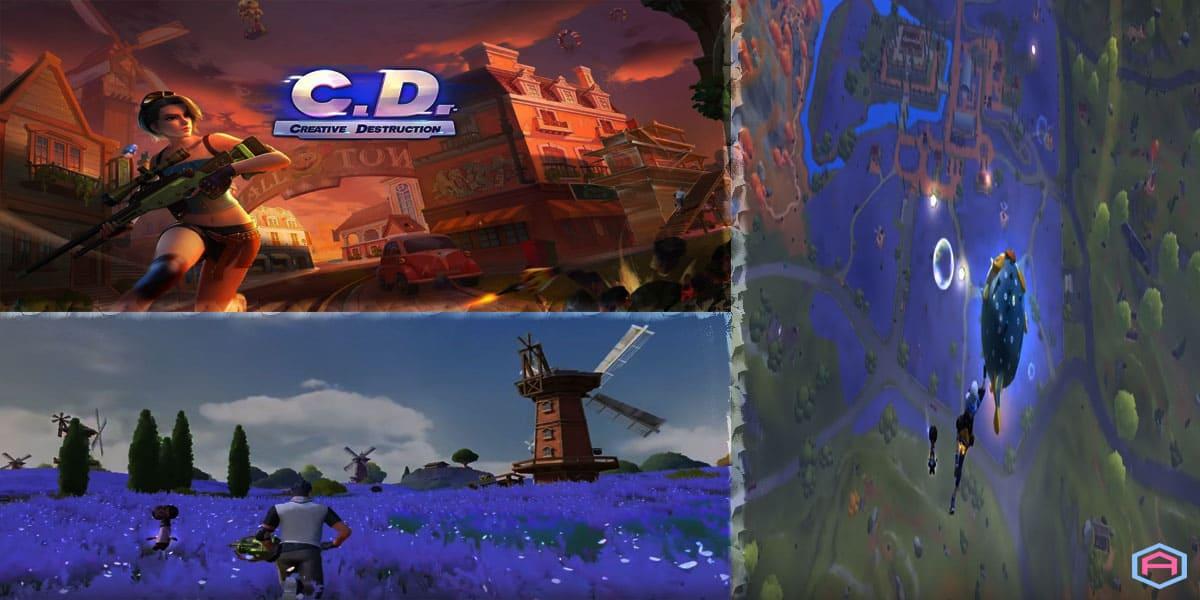 لعبة فورت نايت في شكل Creative destruction