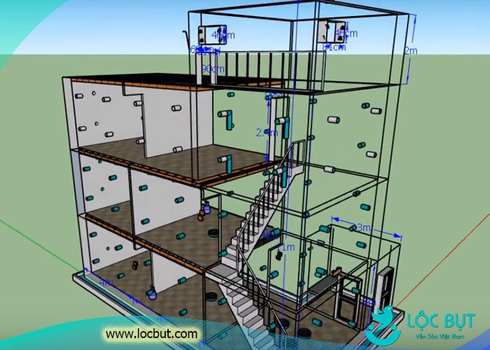 Mẫu thiết kế và xay dựng nhà yến 5x12m.