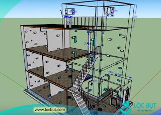 Mô hình xây dựng nhà yến hoàn chỉnh kích thước 5x12m.