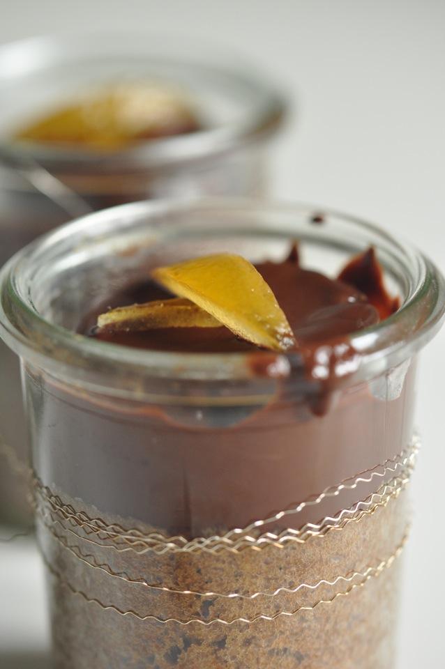 kleines dessert im glas
